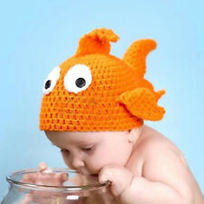 Adorable Cute Baby Children Kid Fancy Costume Knitted Crochet Goldfish Fish Hat