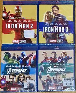 [Blu-ray] LOTTO 4 Film Marvel MCU: Iron Man 2, Iron Man 3, Avengers 1 e 2