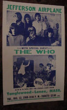 Vintage Jefferson Airplane The Who Bb King Joshua Light Show60s Concert Poster