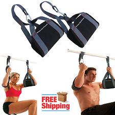 Pull Up Ab Straps Workout Abdominal Exercise Home Gym Fitness Equipment Hanging