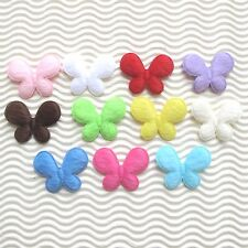 "50pc-110pc x (1 3/8"") x Padded Furry Felt Butterfly Appliques Summer Craft St339"