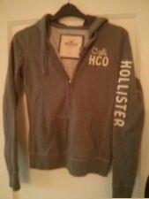 Grey Hollister zip up hoodie size S
