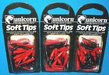 Unicorn 79023 Soft Replacement Dart Tips Red Black New 3 Packs of 50 ~ 150 Total