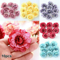 10PCS Artificial Fake Peony Flowers Floral Heads Wedding Bouquet Home Decor Lots