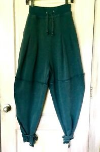 Free People Harem Pant Jogger Balloon Sweatpant Intimately Ankle Tie Teal XS NEW