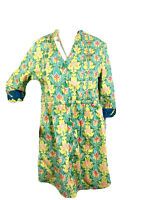 Matilda Jane Womens Small Button Down Shirt Tunic Top V Neck Floral Multicolored