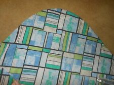 Vintage Quilted Bedspread King Size Blue geometric pattern