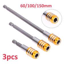 3pcs Bithalter 60/100/150mm Hex Schnellwechsel Magnet Bit Halter f. 1/4'' Schaft