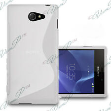 ACCESSOIRES ETUI COQUE HOUSSE TPU SILICONE GEL S-LINE BLANC SONY XPERIA M2 D2303