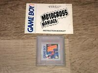 Motocross Maniacs w/Manual Nintendo Game Boy Tested Authentic