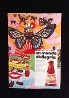 Pubblicita'Advertising Originale Vintage FANTA bibita aranciata 1975 no cd (A2)