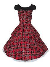 Tartan Alternative Goth Punk Rockabilly Flared Party Prom Dress BNWT Sizes 8 10