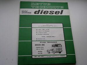 Revue Technique DIESEL camion poids lourd Mercedes-benz 1976