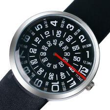 PAIDU Cool Quartz Sport Wrist Watch Faux Leather Mens Turntable Dial Digital