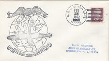 US Ship Cancel Naval Cover Aircraft Carrier USS Shangri-La CVS-38 cacheted 1970