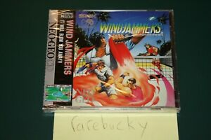 Windjammers (Neo Geo CD) NEW SEALED Y-FOLD MINT, RARE US/EURO ENGLISH VERSION!