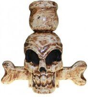 HALLOWEEN/PAGAN/ BALINESE SKULL & BONES funky candle holder-18x20x11 (cm