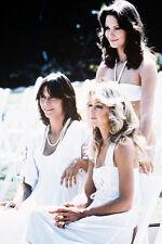 Jaclyn Smith Kate Jackson Charlies Angels white dresses 11x17 Mini Poster
