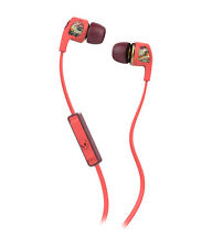 SkullCandy Dime Fine Tuned In-Ear Headphones Mic1+ Remote Burgundy/Floral/Coral