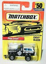 Matchbox Chevy Blazer, police off road patrol #50 black