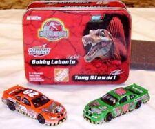 Bobby Labonte 18 Tony Stewart 20 1:64 Die Cast car Collectible Tin Jurassic Park