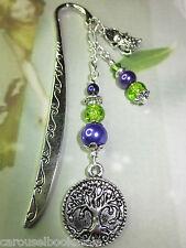 Beaded Bookmark Money Tree Fortune Frog Feng Shui Green Handmade Silver Design