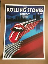 Rolling Stones Detroit Michigan 7/8/15 Official 1st Edition Concert Poster rare!