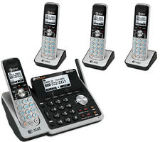 AT&T 2-Line Answering Machine System 4 Cordless Phone Handset TL88102 3 88002