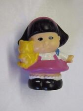 Fisher Price Little People SONYA LEE Holding YELLOW CAT Asian Girl Pet Kitty #2