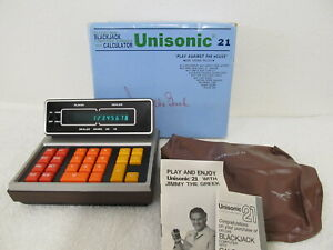 NOS Unisonic 21 Blackjack Computer Calculator w/Box - Jimmy The Greek Snyder Vtg