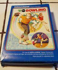 jeux de console mattel intelivision bowling