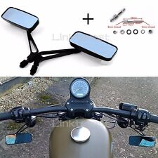 Motorcycle RECTANGLE Rear view Mirrors For Harley Cruiser Bobber Chopper DYNA