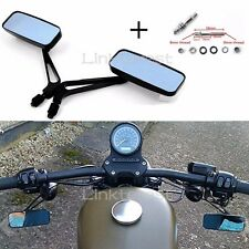 RECTANGLE ALUMINUM MOTORCYCLE REARVIEW MIRRORS 8MM10MM BLACK FOR HONDA HARLEY US