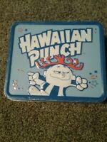 "Hawaiian Punch Tin Metal School Lunch Box 8"" X 7"" Red White Blue Stars 2010"
