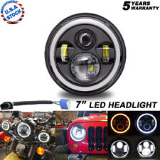 "75W 7"" inch LED Projector Headlight for Honda Harley Kawasaki Motorcycle Yamaha"