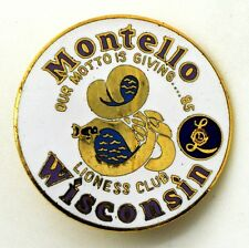 Pin Spilla Lions International - Lioness Club Wisconsin Montello Our Motto Is Gi