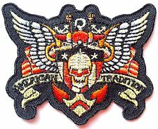 Ecusson Patch brodé thermocollant Biker Rider Motorcycle Tattoo, Rock, Chopper