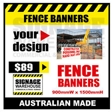 Custom Outdoor Fence Mesh Banner Sign Wrap - 900mmW x 1500mmH Signage Warehouse