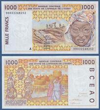 WEST AFRICAN STATES / IVORY COAST 1000 Francs (19)98 UNC P.111A h