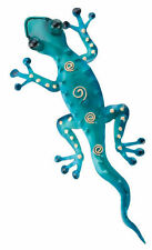 Gecko Wall Hanging Bright Blue Gecko Eleven Inches Metal Regal Art