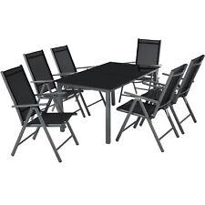 Alluminio set mobili da giardino 6+1 tavolo sedie pieghevole arredo esterno  nuo