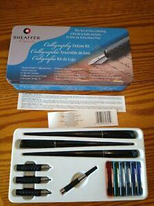Sheaffer The Signature Pen Calligraphy Deluxe Kit 3 pens/6 inks/1 piston convert