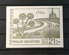 SWEDEN # 1583a. COMPLETE BOOKLET, WATERBIRDS. MNH