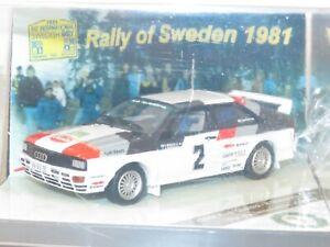 1/43 Audi Quattro  Winner Rally Sweden 1981  #2 H.Mikkola / A.Hertz