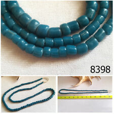 Mesmerizing Old Indo Pacific Blue Glass Bead Trade Wind Ethnic Strand #8398