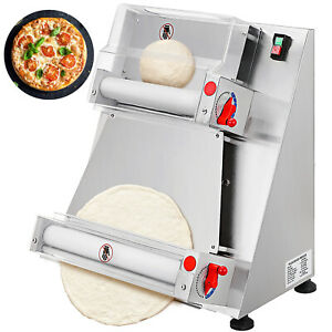 """VEVOR Electric Pizza Dough Roller Sheeter Pastry Press Making Machine 4-15.7"""""""