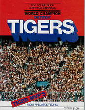 Detroit Tigers 1985 Score Book and Offical Program