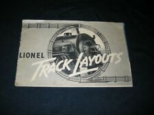 Lionel 1937 Track Layout Planning Book Complete In Nice Shape