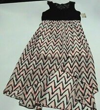 Girl's Long Dress Size 12 Mudd-NWT of 36 Multi colored