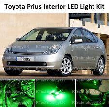GREEN PREMIUM TOYOTA PRIUS 2003-2009 INTERIOR UPGRADE LED LIGHT BULBS KIT XENON